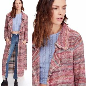 FREE PEOPLE Desert Sunrise Fringe Long Cardigan